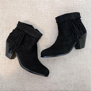 SAM EDELMAN Louie Fringe Ankle Boot